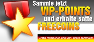 VIP Punkte & Freecoins